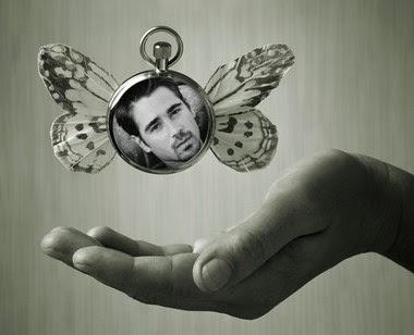 reloj con alas