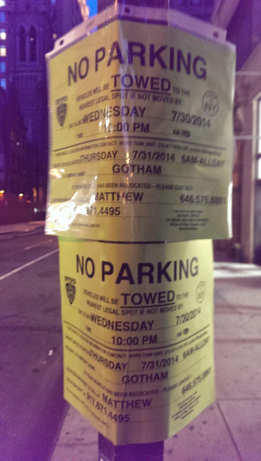 Gotham TV series filming in NYC