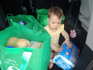 Baby grocery shopping