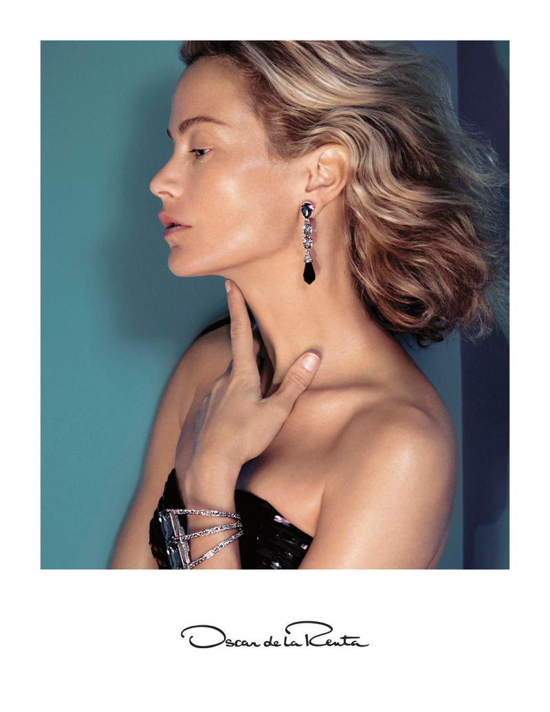 Oscar De La Renta Fall/Winter 2015 Campaign featuring Carolyn Murphy