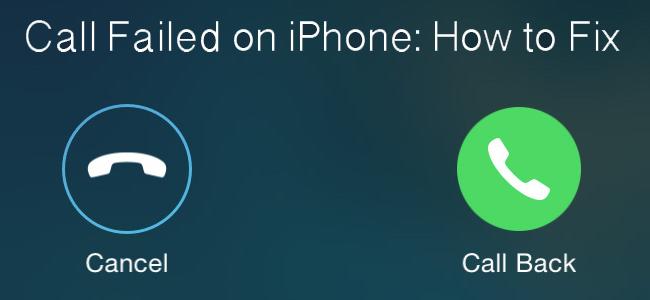 Fix iPhone Call Failed