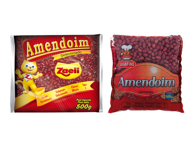 Amendoins das marcas Zaeli e Granfino - Reprodução