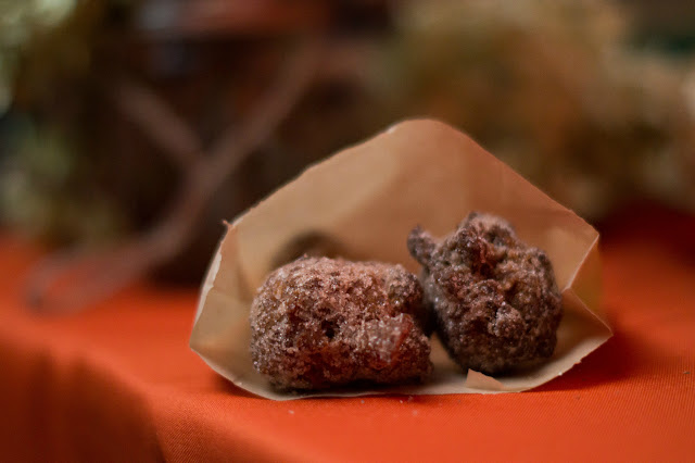 Late-night snack of apple cider doughnut holes