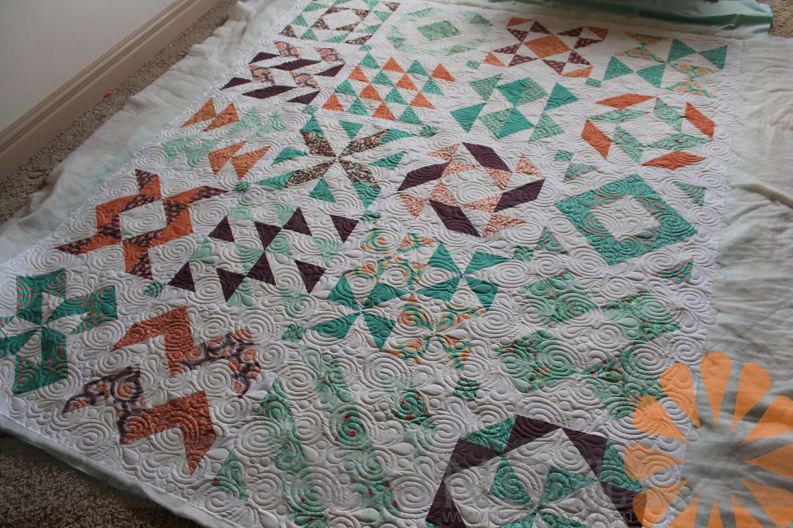 Piece N Quilt: Sampler Quilt - Edge to Edge Machine Quilting by ...