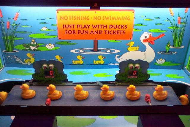Duck arcade machine in Blackpool