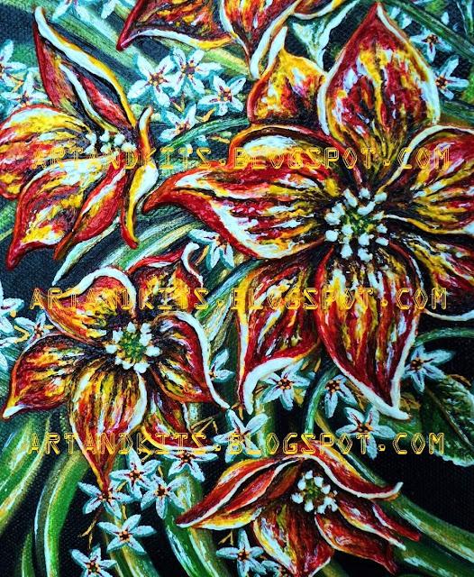 A primeira imagem de mais uma das minhas pinturas. / The first image of another one of my paintings.