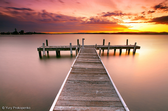 Sunset in Belmont, Lake Macquarie, Central Coast, NSW, Australia