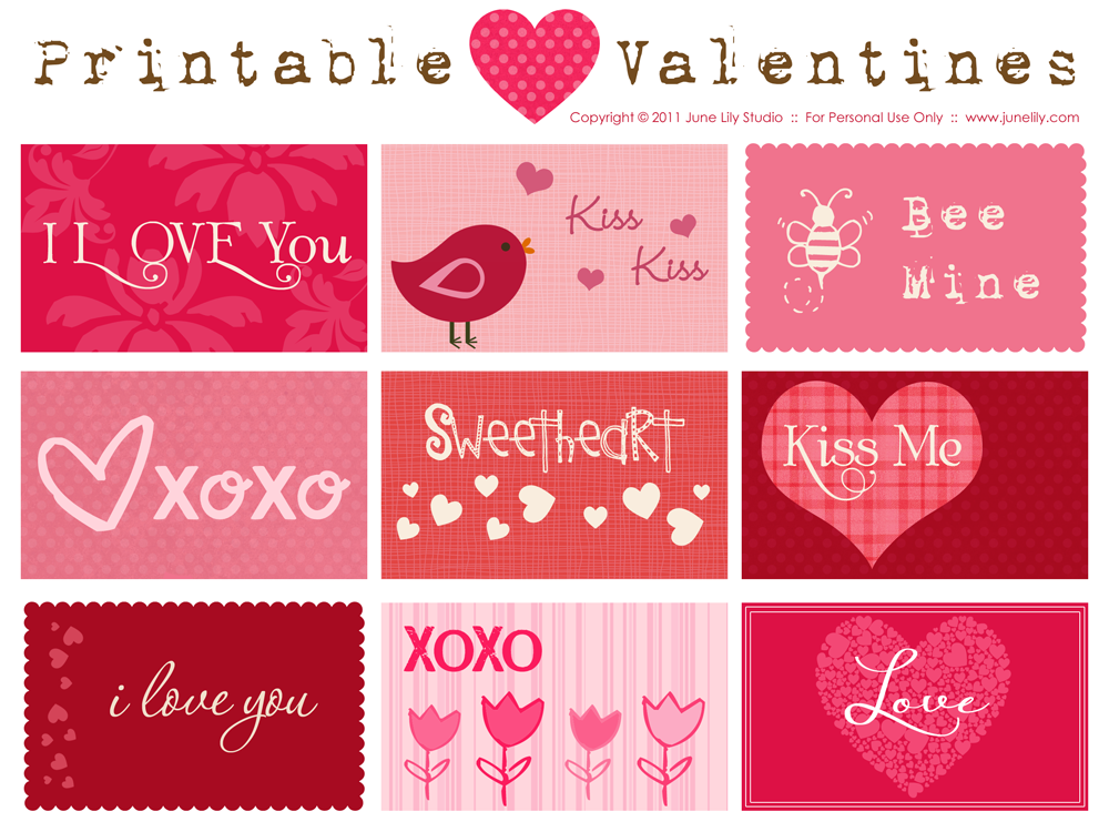 ... Lily Custom Blog Design Free Printable Valentines Day Cards Templates