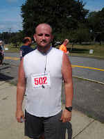 Lance Eaton after the 25 Annual Firefighters Road Race in Hamilton