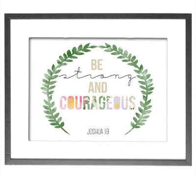 Be Strong & Courageous // Craftivity Designs