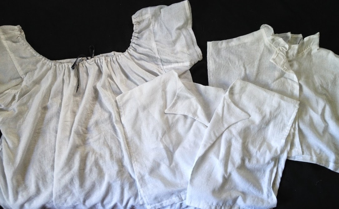 chemise and  chemisettes