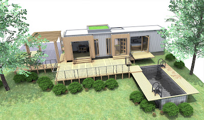 Casas contenedores casas contenedores dise o de estudio for What goes into building a house