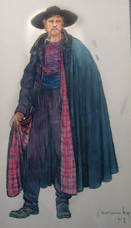 Cloak lined with plaid fabric