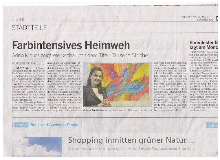 Kölnische Rundschau - 10-05-2012 , Jornal de Colônia.