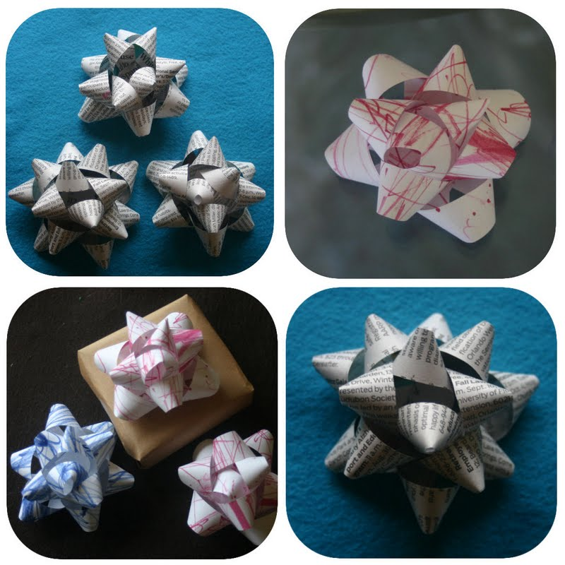 Turn Baby Scribbles Into Bows Gift Bow Tutorial