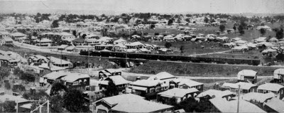Interstate train passes through Fairfield, Brisbane, 1930. (John Oxley Library)