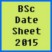 BSc date sheet 2016 of all Pakistan universities