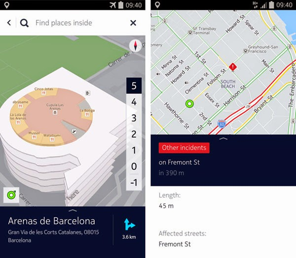 NOKIA's HERE maps for Android update brings interactive 3D maps, leaves BETA tag