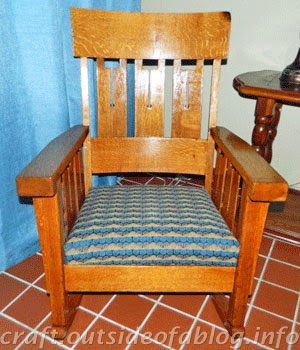 This chair rocks! | Family heirloom refinished and recovered