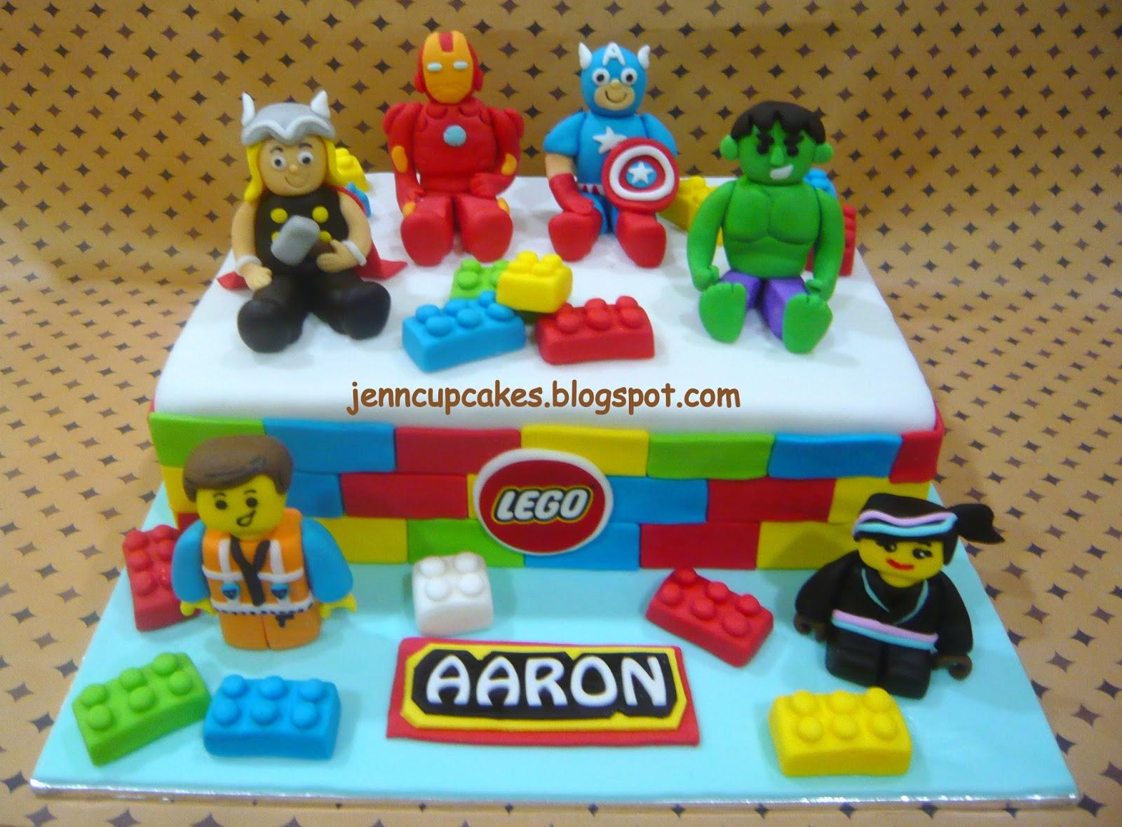 Jenn Cupcakes Muffins Avengers Lego Theme Cake