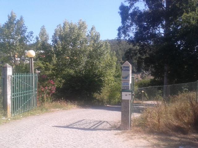 Entrada Praia Fluvial Quinta do Barco