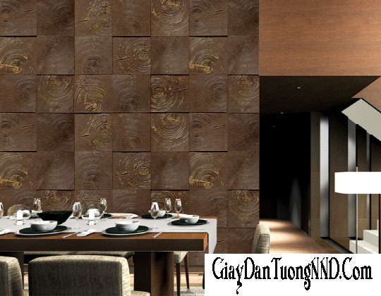 Trang trí phòng khách bằng giấy dán tường 3D