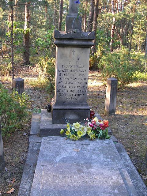 Tama, zachowane nagrobki cmentarza cholerycznego. Fot. Dariusz Jaskulski