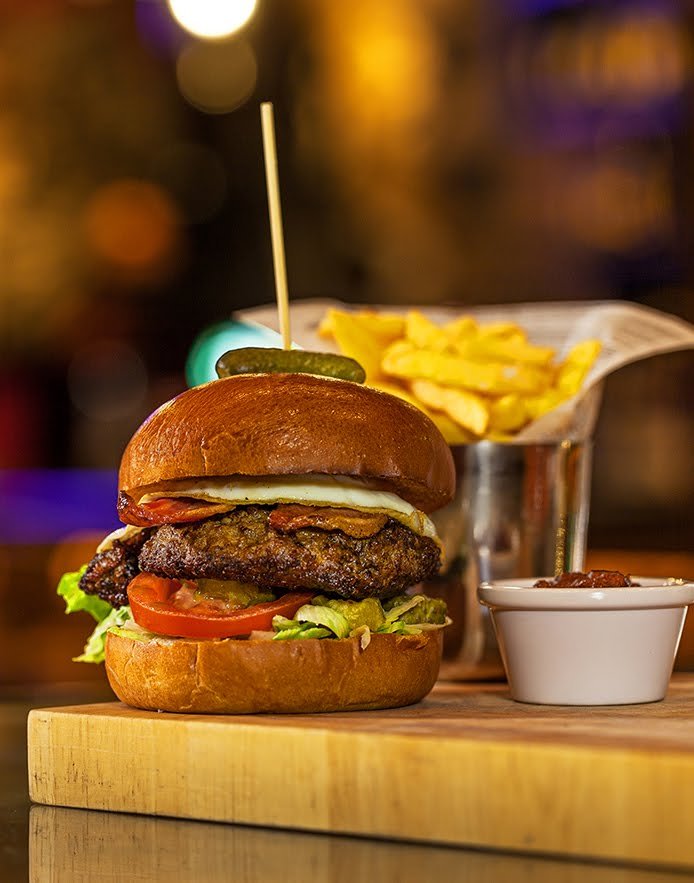 Beef Burger New Yorker. The Hops Bar. dHotel, Ireland