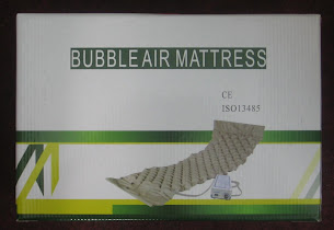 Alternating ripple mattress bubble type