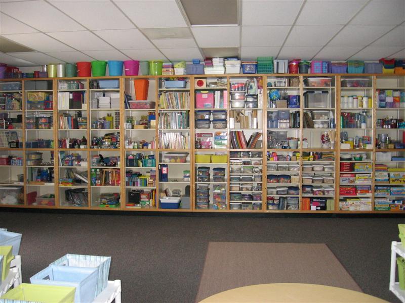 Classroom Shelves Ideas ~ Classroom walls tip cover open shelving clutter
