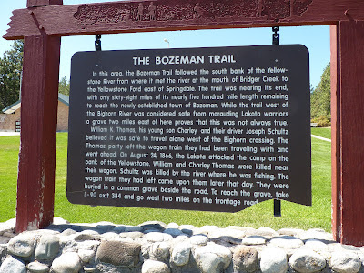Bozeman trail sign