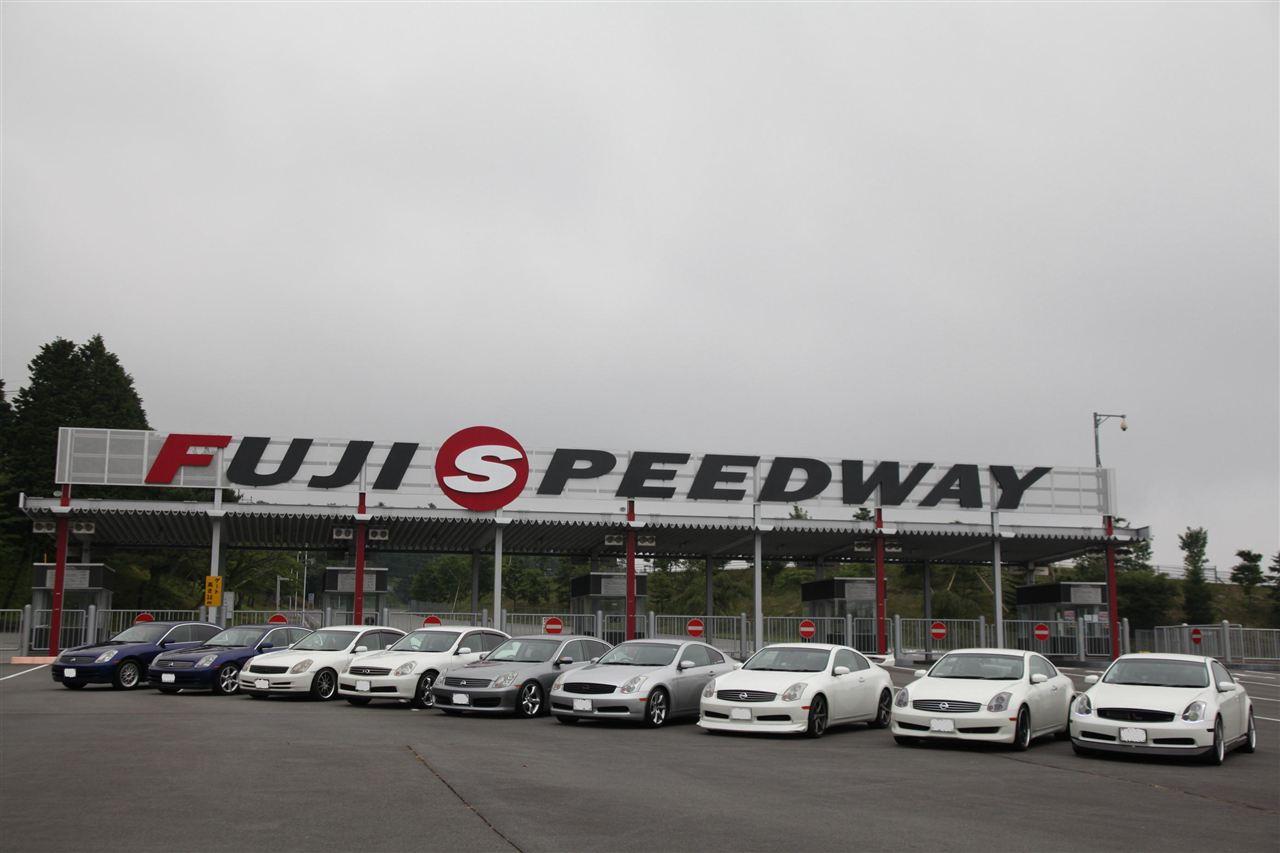 Nissan Skyline CV35, Fuji Speedway, zlot, tor wyścigowy, japońskie sportowe coupe, Infiniti G35, zdjęcia