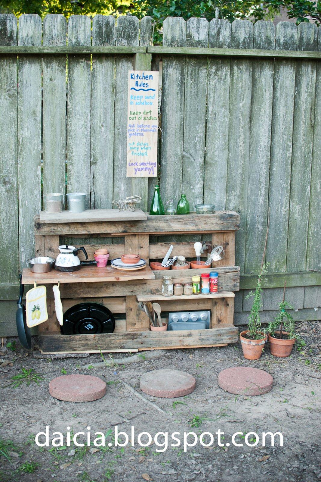 Teach Your Children Well: Mudpie Kitchen Update--making a pallet ...