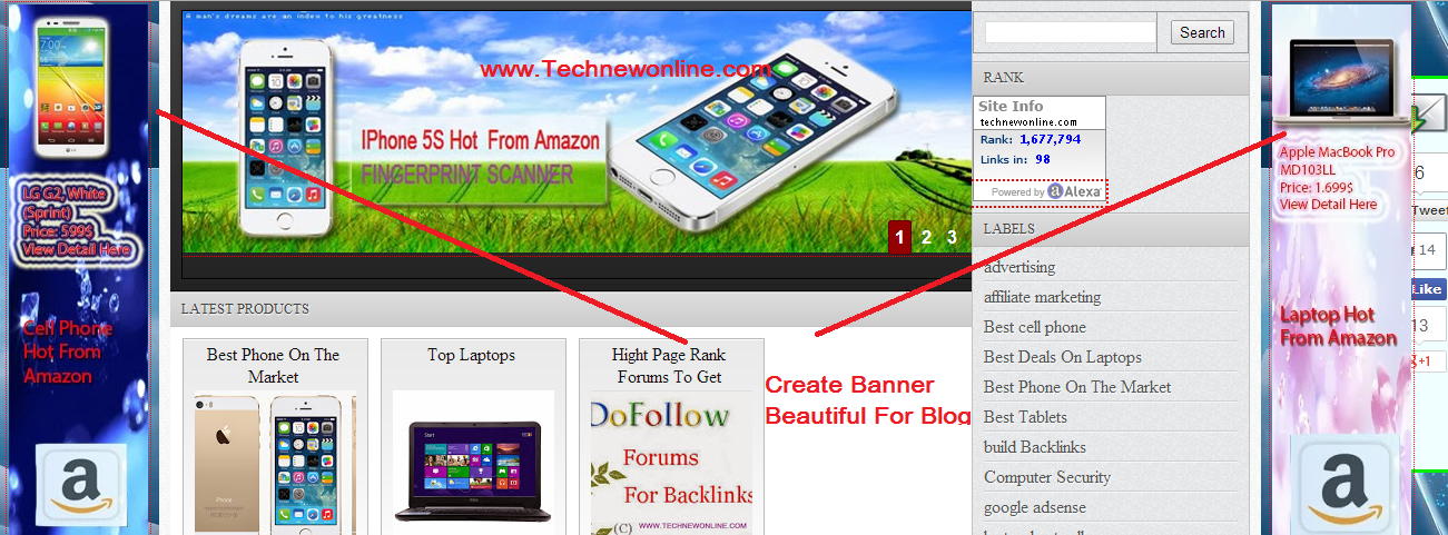 Create Banner Beautiful For Blogger