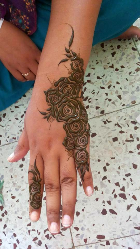 Mehndi Rose Designs For Hands : Beautiful latest simple arabic pakistani indian bridal