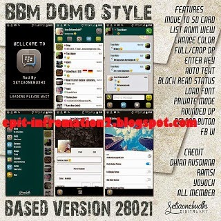 BBM2 Mod Domo Style Version 2.8.0.21 apk + List Anim View