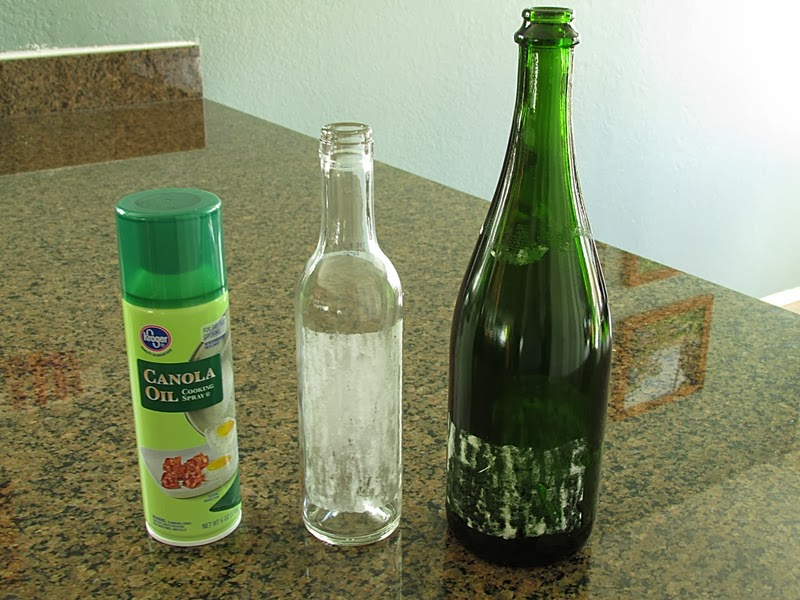 Tip: Non-Toxic method for removing sticky labels from glass bottles and jars using cooking spray