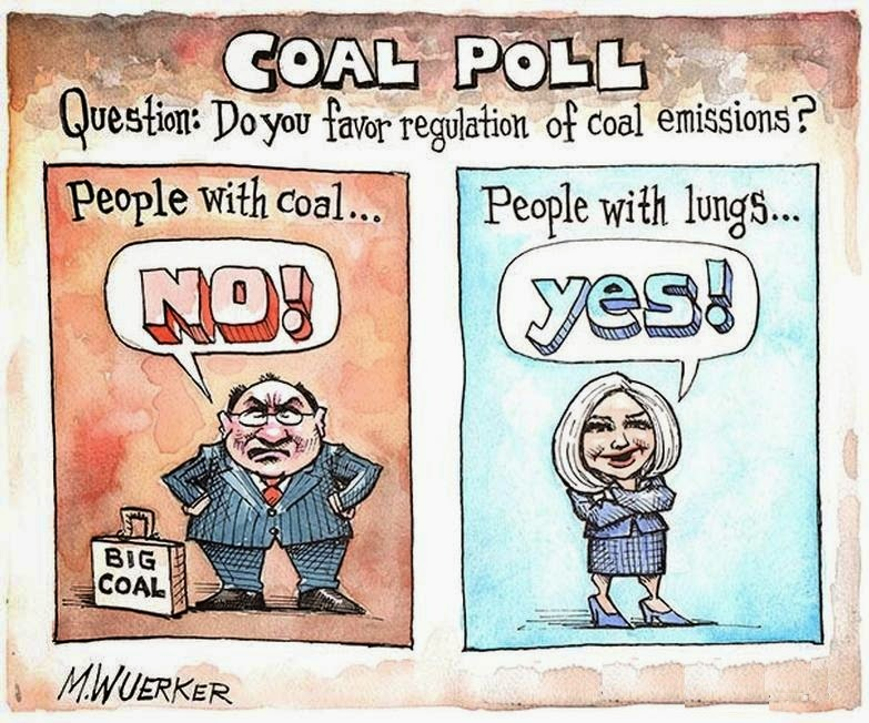 Matt Wuerker: Coal or Lungs.