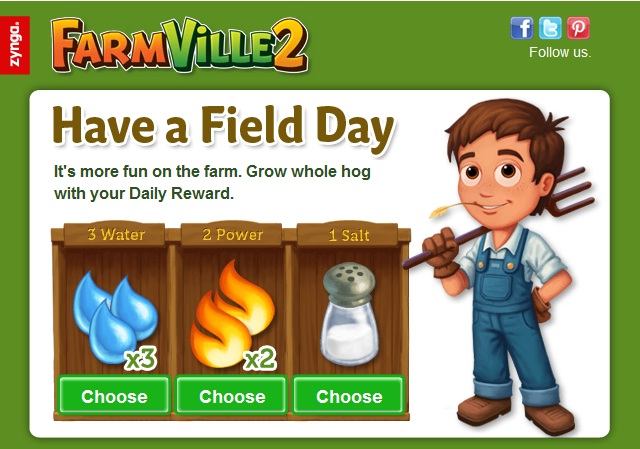 FamrVille+Daily FarmVille 2:Get your Free Daily Reward!