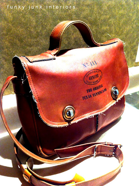 Cool vintage purse find via Funky Junk Interiors