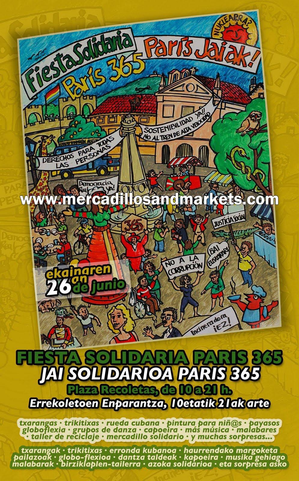 Mercadillos and markets mercadillo solidario par s 365 - Comedor solidario paris 365 ...
