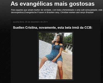 """Blog """"As evangélicas mais gostosas"""" que reúne fotos de supostas"""