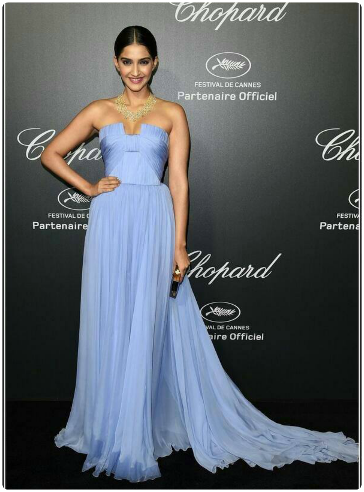 Sonam kapoor at chopart event cannes 2014 in elie saab
