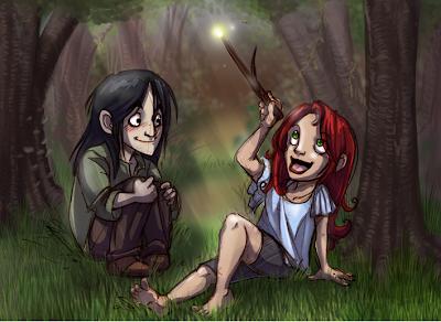 Severus Snape y Lily Evans