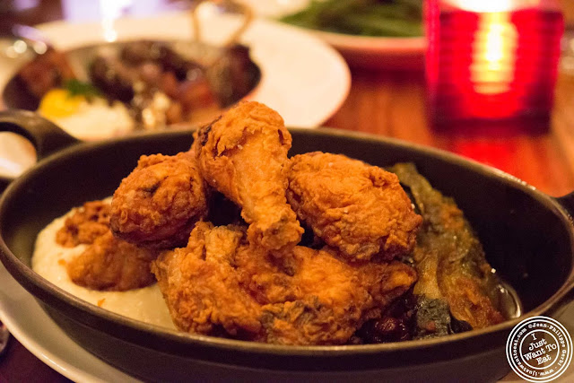 image of fried chicken at Tom Colicchio Craftbar in NYC, New York