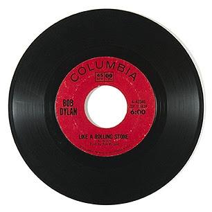 Foto original do LP do Bob Dylan - Like a Rolling Stone