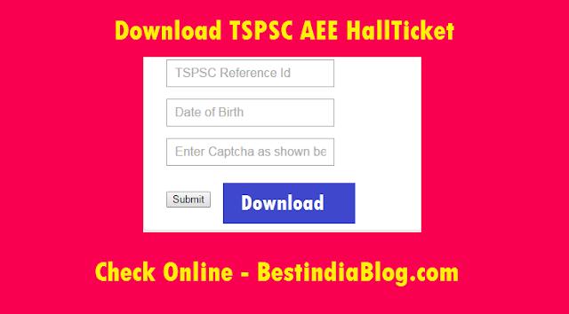 tspsc aee hallticket download