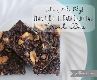 Peanut Butter Dark Chocolate Granola Bars