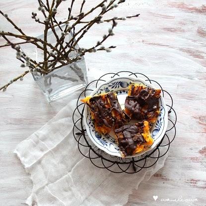 Mazurek czekoladowo-pomarańczowy, jak delicje