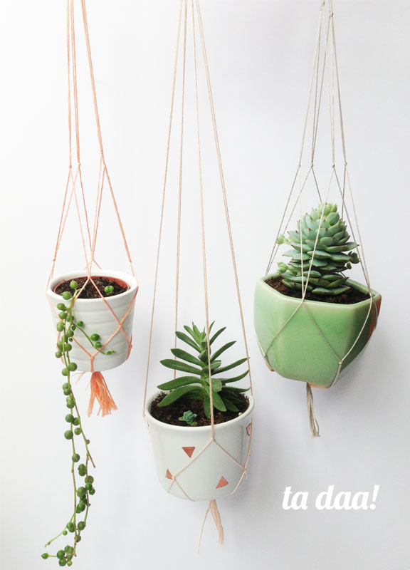 DIY Macrame Pot Holders
